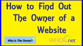 Find, Check, Search, L๐ok Up Who Owns A Website & Domain. Domain Owner Registration Information