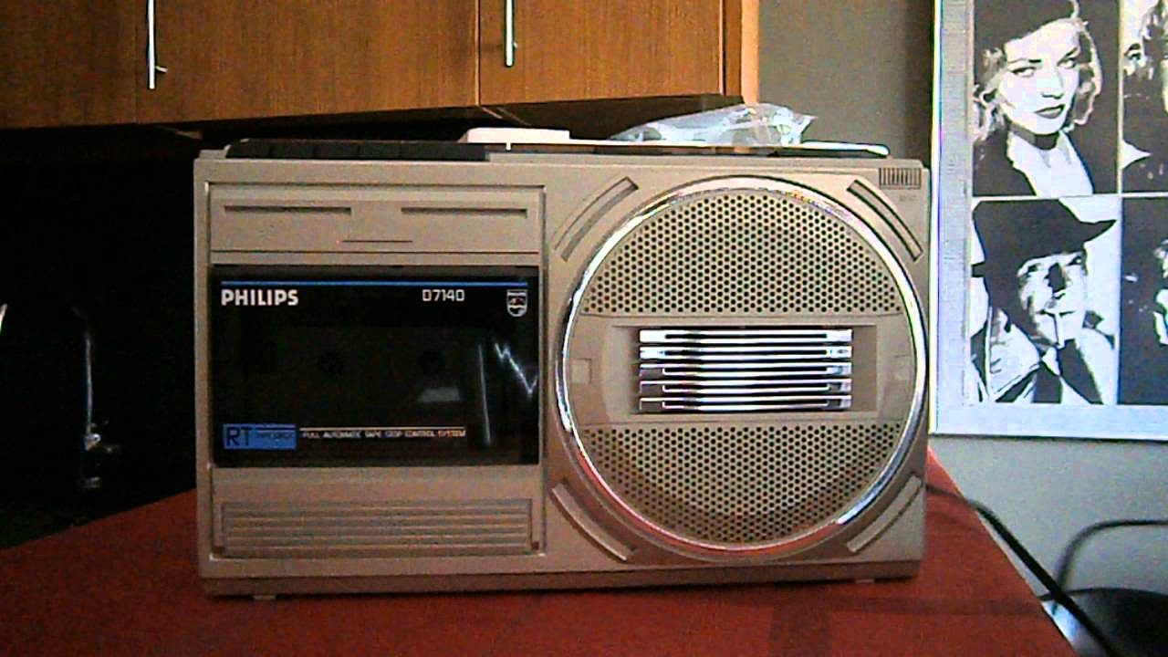 Unboxing Philips D7140 Radio Cassette Boombox 80's - YouTube