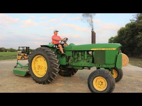 Tractors Working On The Farm | Real Tractors Mowing With Our Shredder