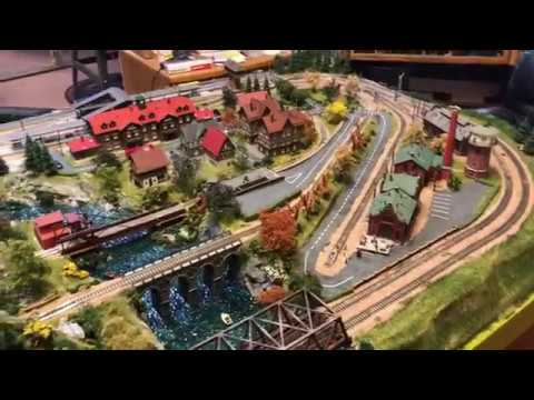 N scale model train layout Alpine  for sale
