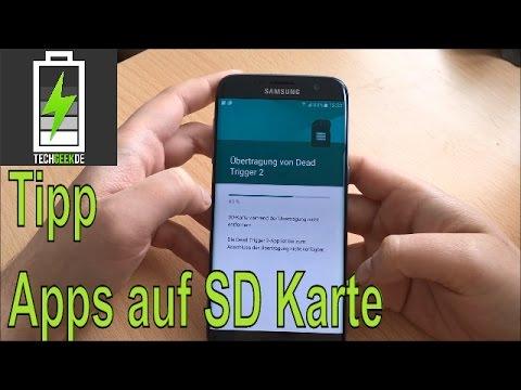 Apps auf SD Karte verschieben beim Samsung Galaxy S7 Edge kleiner Tipp