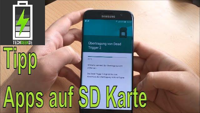 Apps Auf Sd Karte Verschieben Beim Samsung Galaxy S7 Edge Kleiner Tipp Youtube