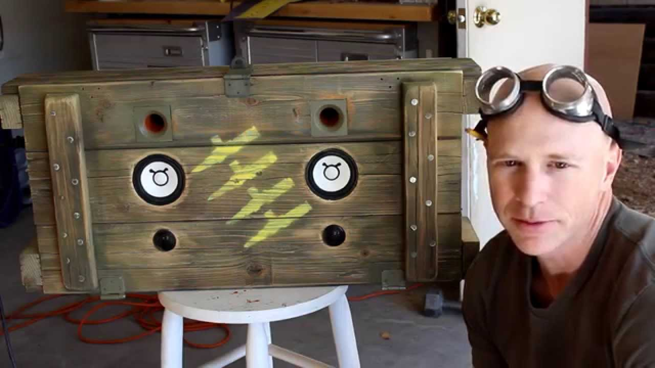 Build a Wooden Ammo Box Boombox - YouTube