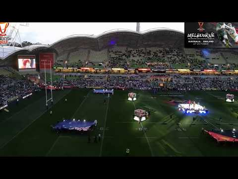ceremony of Rugby League World Cup 2017  Round 1  Australia Vs England