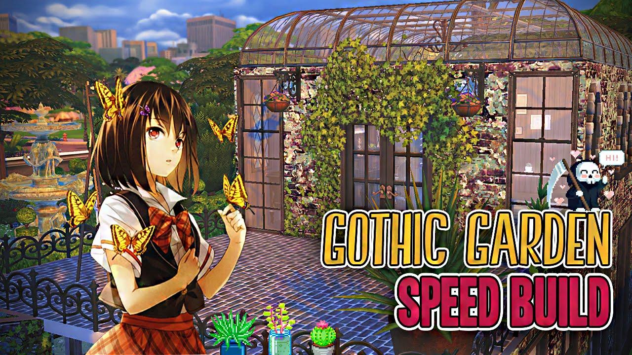The Sims 4: Speed Build | Gothic Garden ☂