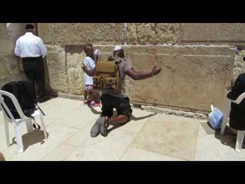 Pentecostal Christians pray at the Western Wall (Wailing Wall), Jerusalem, Israel