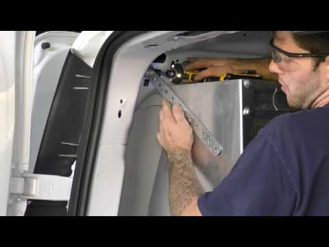 American Van Equipment - 2016 Ford Transit Connect Partition and Shelving Installation