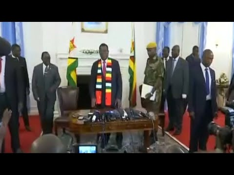 Zimbabwe's Mnangagwa appeals for peace, Chamisa questions result