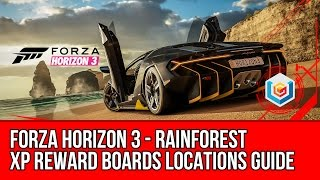 Forza Horizon 3 All Rainforest XP Reward Boards Locations Guide