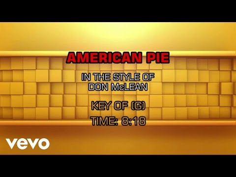Don McLean - American Pie (Karaoke)