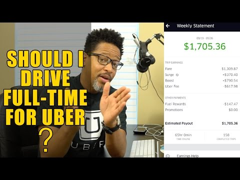Should I Drive Full-Time For Uber? (2018)
