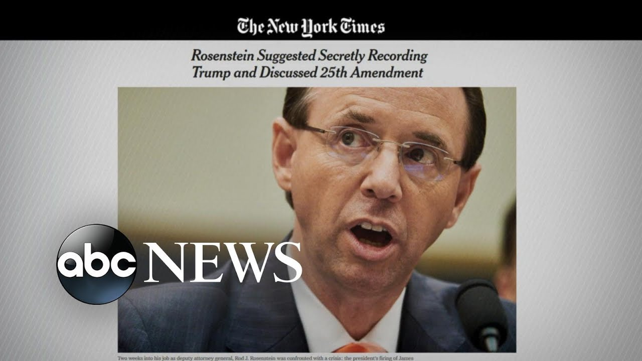 Deputy AG once considered secretly recording Trump: Sources