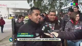LA VOZ ARGENTINA: UNA MULTITUD SE PRESENTÓ EN LA PRIMERA JORNADA DEL CASTING EN CÓRDOBA