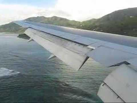 Landing at Mahè Airport, Seychelles