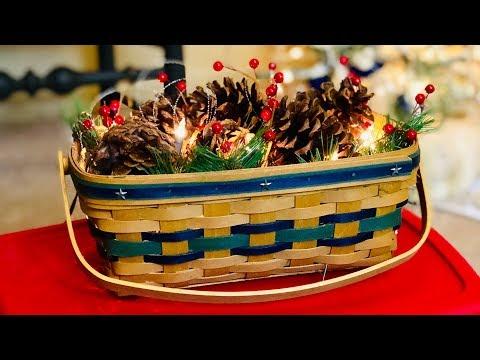 Christmas DIY! Scents Of The Season Pinecone Basket