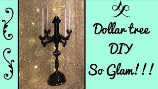 Dollar tree  DIY/ Candelabra so glam!