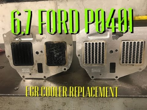 6.7 FORD P0401 FIX egr cooler replacement