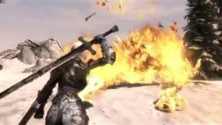 Skyrim SE MOD The Wizard Warrior : Dragon Fight