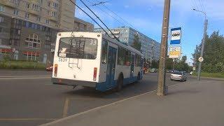 Скачать Троллейбус маршрут 33 ВМЗ 5298 22 б 3839 11 06 2019 Санкт Петербург