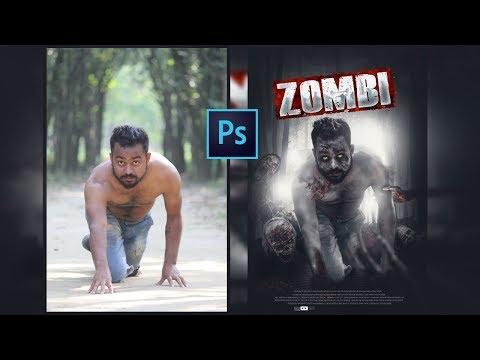 Zombi   Photoshop Zombi Movie Poster Design   Photoshop Tutorial 2019