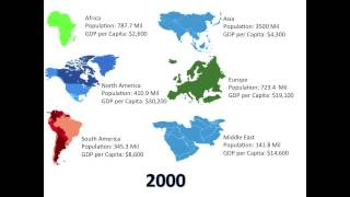Mapping the World - Population and GDP Growth