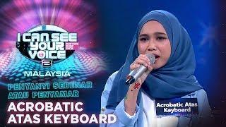 Penyanyi Sebenar Atau Penyamar - Acrobatic Atas Keyboard | #ICSYVMY