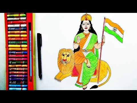 How To Draw Bharat Mata Step By Step For Kids | Bharat Mata Drawing | By Drawing Art