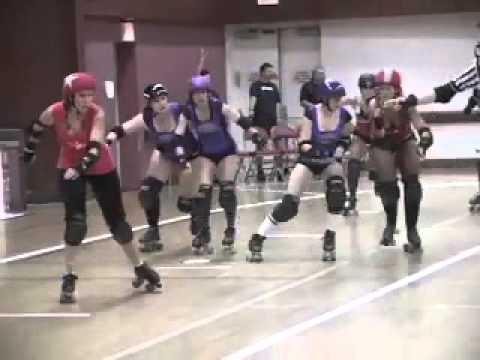 Angel City Derby Girls:Rocket Queens vs V Town- Girls Flat Track Roller Derby Bout-Jam-9/17/11-13