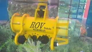 Roboblock built underwater robot ROV in action