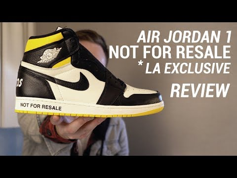 Air Jordan 1 NRG NOT FOR RESALE Black Yellow LA Exclusive Review