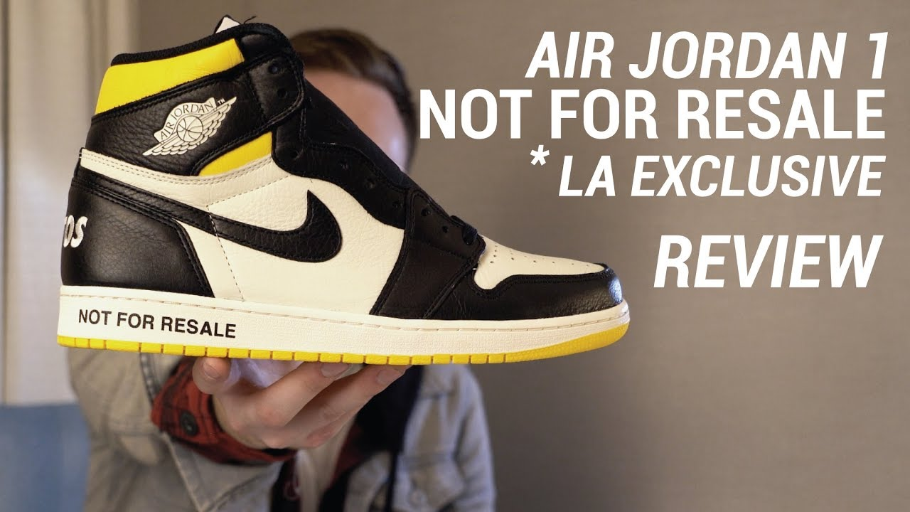 on sale 0e94b f63e0 Air Jordan 1 NRG NOT FOR RESALE Black Yellow LA Exclusive Review