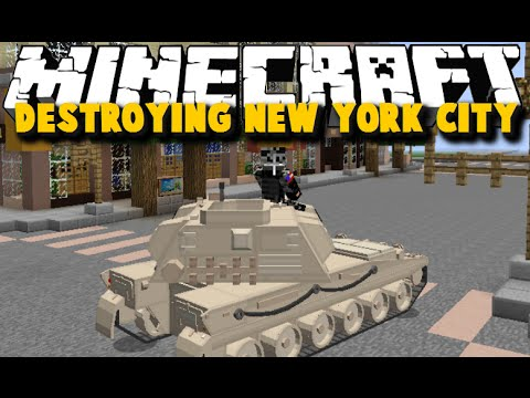 Minecraft: DESTROYING NEW YORK CITY WITH TANKS - TANKS MOD SHOWCASE - Brothers Minecraft [04]