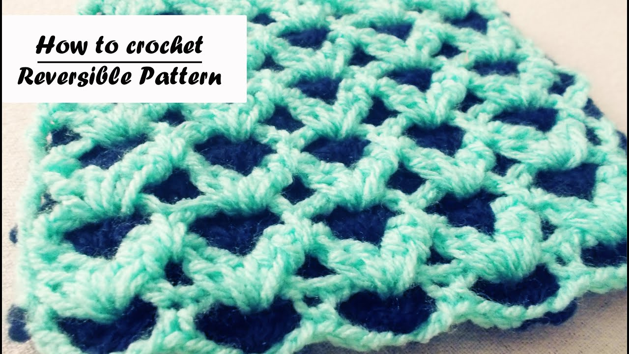 How to crochet Reversible Stitch - YouTube