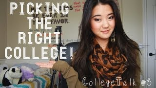 CollegeTalk #6: Picking the Right College: My Tips, Advice, & Regrets