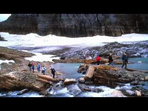 Melting glaciers in Glacier Park by Steve Salis