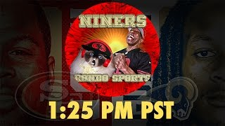 Ronbo Sports In Yo Face, At Yo Place Watching The Game! 49ers VS Rams 2016 Week 16 NFL