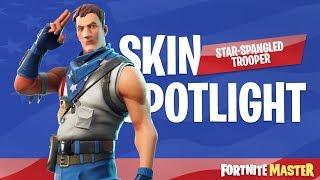 Star Spangled Trooper Skin Spotlight (Fortnite Battle Royale)