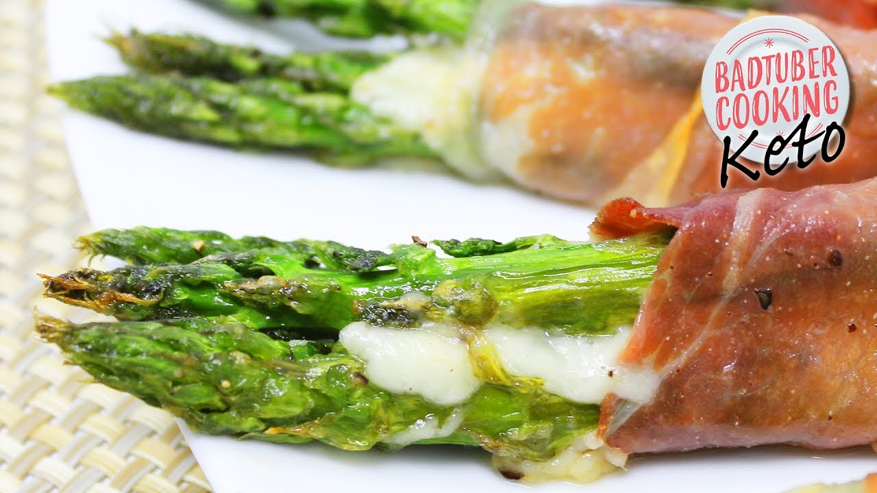 Prosciutto Wrapped Asparagus  Keto And Low Carb Recipe Badtuber Cooking