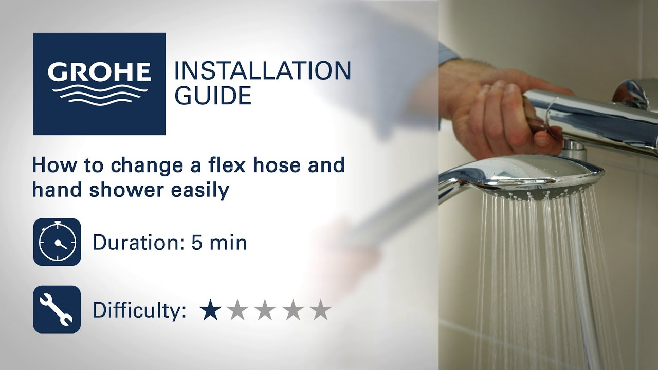 Change a GROHE flex hose and hand shower - YouTube