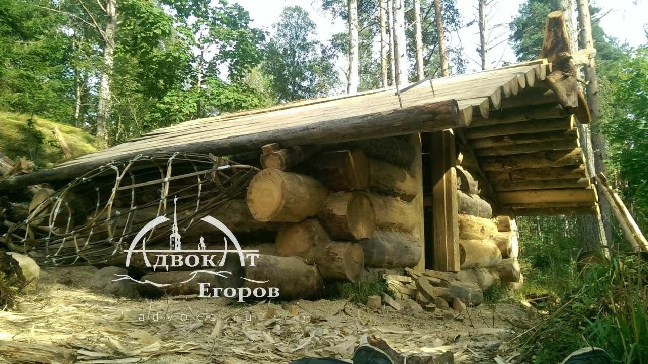 Лесная изба адвоката Егорова зимовье ч. 4 фронтоны