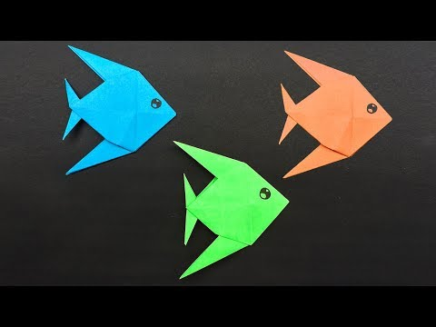 Easy Origami For Kids Fish - How To Make A Paper Fish?