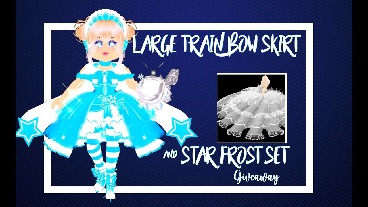 HUGE PRINCESS STARFROST SET AND LARGE TRAIN BOW SKIRT GIVEAWAY!| Royale high 20k giveaway! (Open)