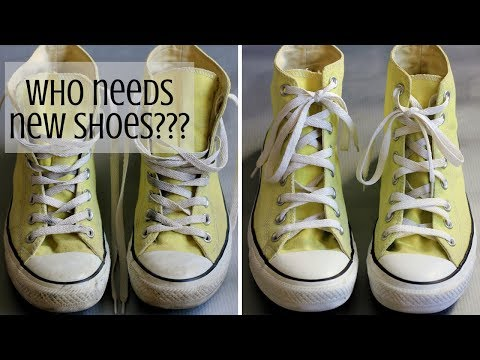HOW TO CLEAN CONVERSE (CANVAS) SHOES WITH SOAP AND BAKING SODA | INTHEKITCHENWITHELISA