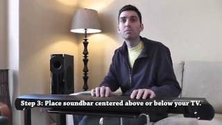 How to Install a Soundbar Speaker Video