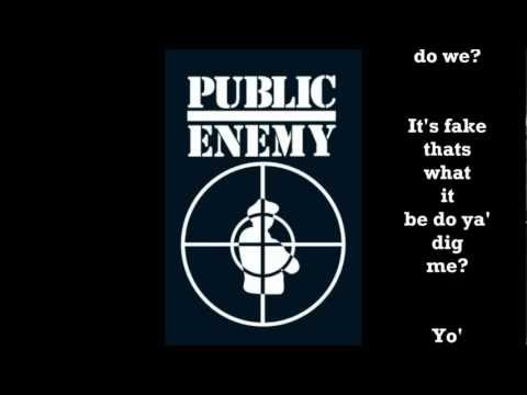 Public Enemy - Don't believe the hype - with lyrics