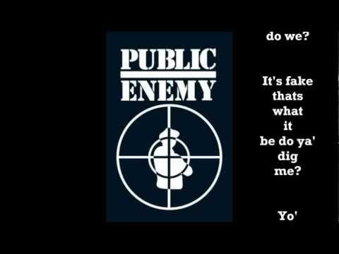 Public Enemy  Dont believe the hype  with lyrics