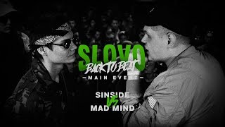 SLOVO BACK TO BEAT: SIN vs MAD MIND (MAIN-EVENT) | МОСКВА