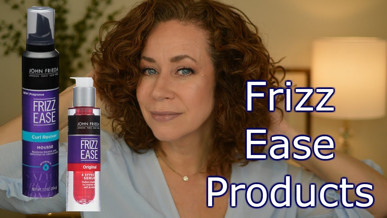 Curly Hair Products Serum And Mousse By Frizz Ease Youtube