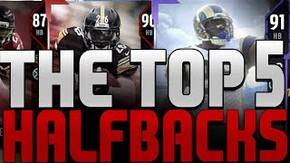 TOP 5 RUNNING BACKS IN MADDEN 18 ULTIMATE TEAM PACKS! MADDEN 18 CLUTCH TRAIT IS FOR THE BEST CARDS!