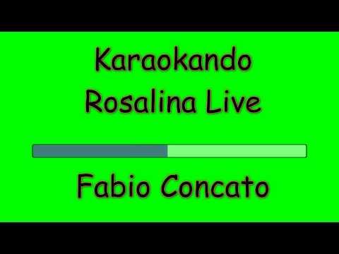 Karaoke Italiano - Rosalina - Fabio Concato ( Testo )
